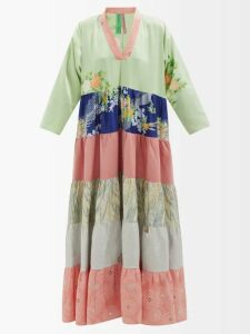 Dolce & Gabbana - Lily Print Cotton Poplin Mini Skirt - Womens - Black Print