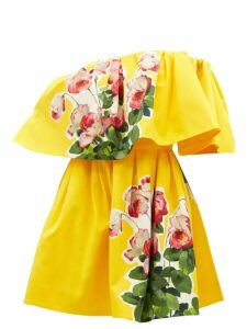 Dolce & Gabbana - Geranium-print Jersey Maxi Dress - Womens - Red Multi
