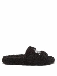 Chloé - Contrast-topstitching Cotton-twill Shorts - Womens - Dark Blue