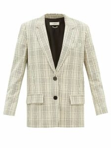 Sea - Monet Floral Print A Line Ramie Midi Dress - Womens - Dark Pink