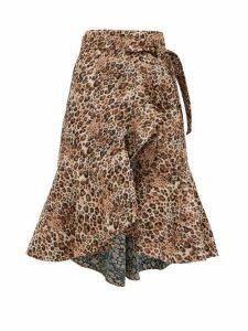 Johanna Ortiz - Cynical Attitude Leopard-jacquard Wrap Skirt - Womens - Leopard