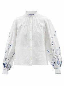 Kalita - La Fontelina Tiered Silk Maxi Dress - Womens - Green