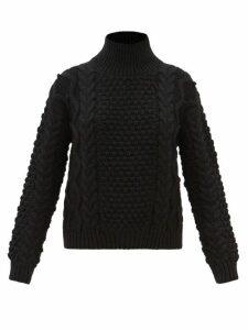 Loup Charmant - Alghero Tie Back Organic Cotton Dress - Womens - Navy