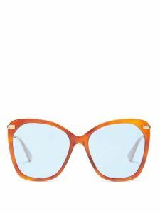 Gucci - Oversized Round Tortoiseshell Acetate Sunglasses - Womens - Tortoiseshell