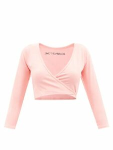 Redvalentino - Tie Neck Wool Blend Sweater - Womens - Dark Red