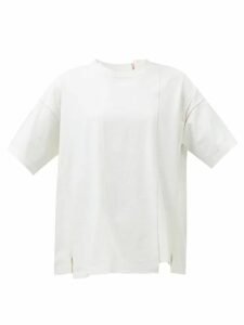 Albus Lumen - Safi Cotton-blend Single-breasted Blazer - Womens - Nude