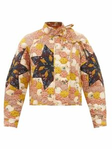 Staud - Dill Balloon-sleeved Cotton-blend Top - Womens - Light Yellow