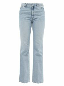 Staud - Blouson-sleeve Cotton-blend Top - Womens - Beige
