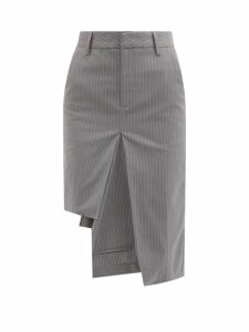 Dolce & Gabbana - Lily-print Off-the-shoulder Silk Top - Womens - Pink Multi
