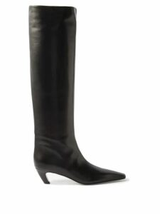 Gioia Bini - Chiara Pleated Linen Midi Dress - Womens - Red