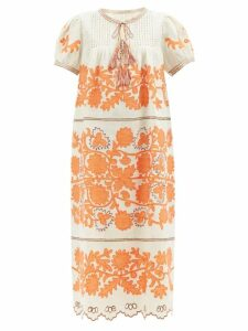 Balenciaga - Floral-jacquard Shirt - Womens - Blue