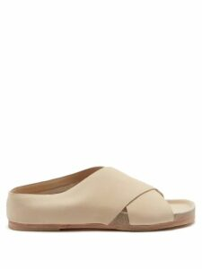 Aquazzura - Deneuve 105 Bow Suede Pumps - Womens - Nude