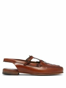 Prada - Floral-print Cotton-poplin Crop Top - Womens - Yellow Multi