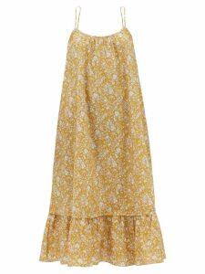 Wiggy Kit - Drawstring Linen Dress - Womens - Pink