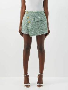 Bottega Veneta - Intrecciato-tab Cashmere-blend Sweater - Womens - Black