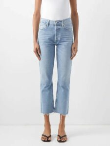 Gucci - Logo-print Tie-dyed Cotton Buttoned Sweatshirt - Womens - Navy Multi