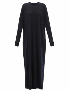 Mm6 Maison Margiela - V-neck Raw-denim Dress - Womens - Denim