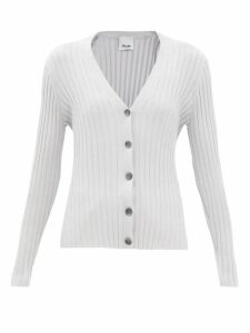 Stella Mccartney - Draped-front Polka-dot Silk Blouse - Womens - White Black
