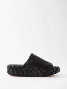 Raey - Uv Floral-print Silk Slip Dress - Womens - Blue Print