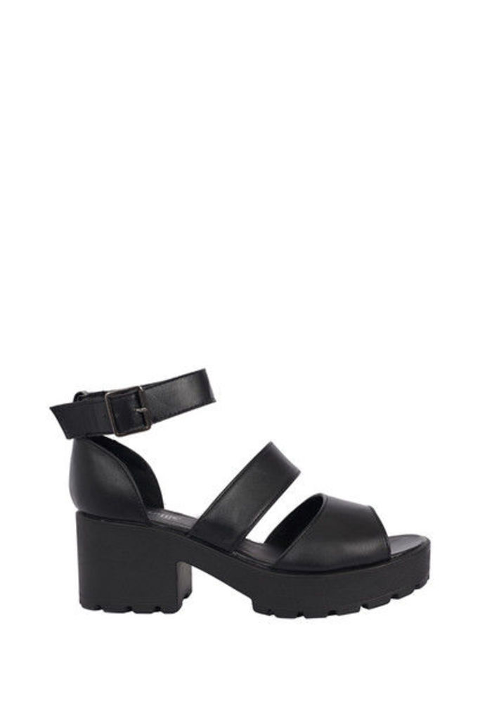 All Yours Black Platform Sandals
