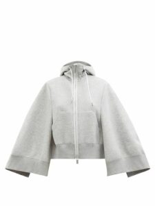 Saloni - Fleur High Neck Silk Satin Midi Dress - Womens - Pink