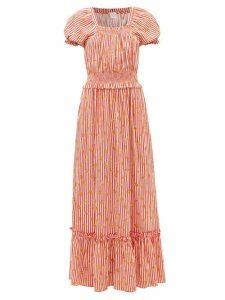 Staud - Blouson-sleeve Cotton-blend Top - Womens - Black