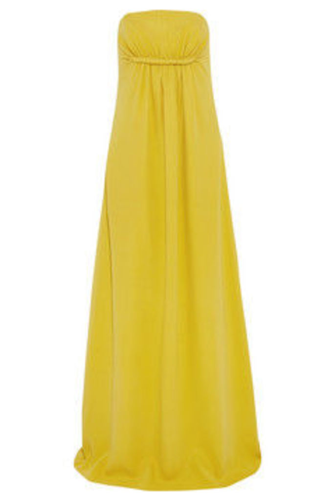 Twist-front silk-crepe gown