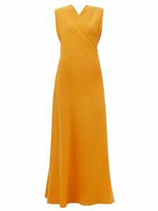 Rhode - Lea Belted Abstract-print Cotton Midi Dress - Womens - Blue Print