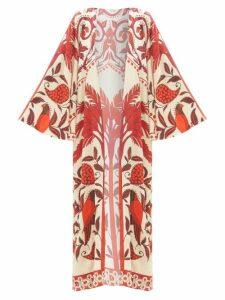 Anaak - Maithili Tie-waist Cotton Shorts - Womens - Blue