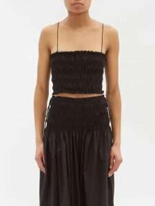 Malone Souliers - Corina Satin Mary Jane Pumps - Womens - Black