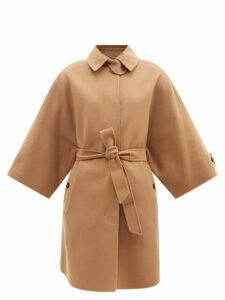 Chloé - Tailored Wool-blend Cropped Slim-fit Trousers - Womens - Dark Green