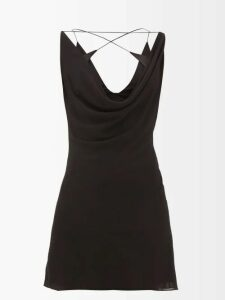 Adriana Degreas - Bacio Ruffled Linen-blend Midi-skirt - Womens - Red