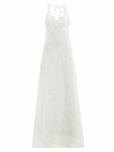 Altuzarra - Chika Metallic Floral-print Silk-blend Shirt - Womens - Gold Multi
