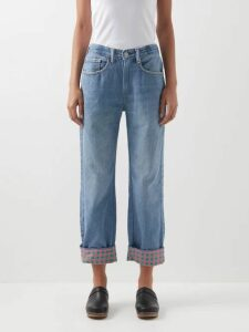 A.P.C. - Loula Striped Cotton-crepe Blouse - Womens - Ivory Multi