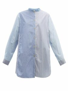 By Walid - Ally Multi-stripe Cotton Shirt - Womens - Blue Multi