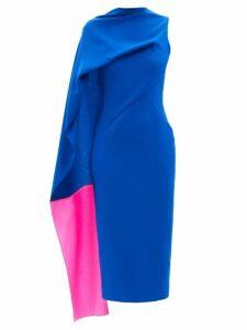 Ganni - Panelled Gingham Seersucker Maxi Skirt - Womens - Red White