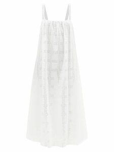 Self-portrait - Leopard-print Asymmetric Satin Top - Womens - Black White