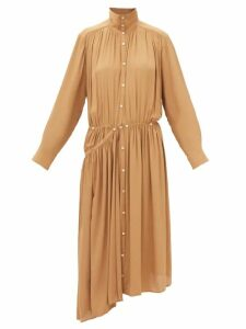 Burberry - Tintagel Double-breasted Leather Trench Coat - Womens - Black