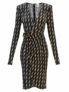 Goat - Goldfinch Camelia-print Crepe Midi Dress - Womens - White Multi