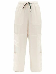 See By Chloé - Lace-trim Ruffled Cotton-voile Blouse - Womens - Black