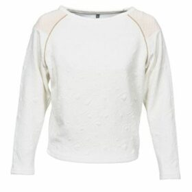 Naf Naf  OLINA  women's Sweatshirt in White