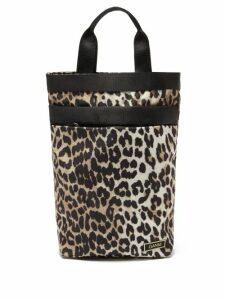 Muzungu Sisters - Frangipani Poppy-print Silk-faille Maxi Dress - Womens - Black Multi