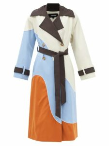 La DoubleJ - Abstract-print Tiered Cotton Maxi Skirt - Womens - Multi
