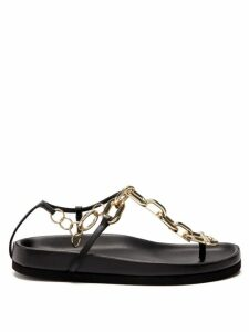 La Doublej - Simps Ruffle-hem Silk Midi Dress - Womens - Pink Multi