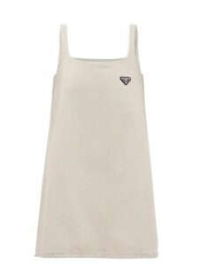 Burberry - High Rise Appliqué Leather Monogram Jeans - Womens - Denim
