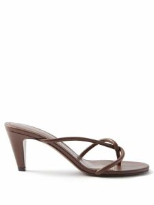 Sea - Viola Lace-trimmed Cotton-voile Blouse - Womens - Burgundy