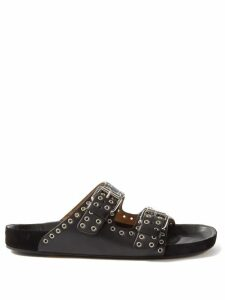 Aquazzura - Deneuve 105 Bow Embellished Suede Pumps - Womens - Black