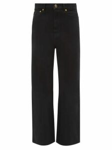 Muzungu Sisters - Lily Embroidered Floral-print Cotton Dress - Womens - Orange Multi