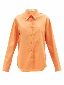 Sea - Luna Puffed-sleeve Cotton-blend Dress - Womens - Black