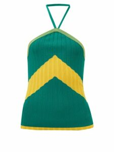 Biyan - Swarna Floral-print Silk-faille Blouse - Womens - Yellow Multi